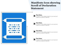 Manifesto Icon Showing Scroll Of Declaration Statement