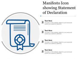 Manifesto Icon Showing Statement Of Declaration