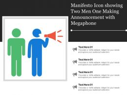 Manifesto Icon Showing Two Men One Making Announcement With Megaphone