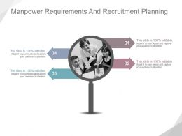 Manpower Requirements And Recruitment Planning Ppt Ideas