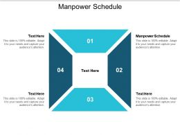 Manpower Schedule Ppt Powerpoint Presentation Layouts Graphics Cpb