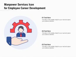 Manpower Services Icon For Employee Career Development