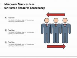 Manpower Services Icon For Human Resource Consultancy