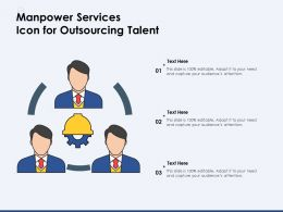 Manpower Services Icon For Outsourcing Talent
