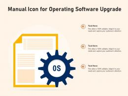 Manual Icon For Operating Software Upgrade