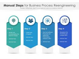 Manual Steps For Business Process Reengineering