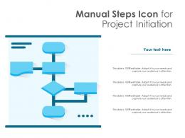 Manual Steps Icon For Project Initiation