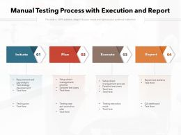 Manual Testing Process With Execution And Report