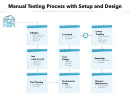 Manual Testing Process With Setup And Design
