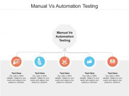 Manual Vs Automation Testing Ppt Powerpoint Presentation Gallery Design Ideas Cpb