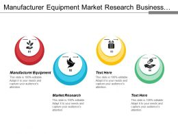 Manufacturer Equipment Market Research Business Development Online Marketing