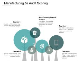 Manufacturing 5s Audit Scoring Ppt Powerpoint Presentation Portfolio Images Cpb
