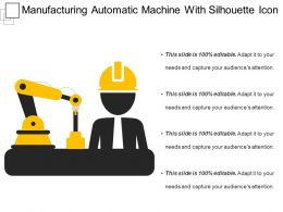 Manufacturing Automatic Machine With Silhouette Icon