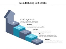 Manufacturing Bottlenecks Ppt Powerpoint Presentation Show Slideshow Cpb