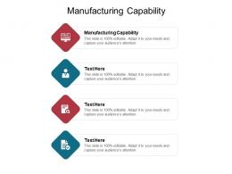 Manufacturing Capability Ppt Powerpoint Presentation Icon Graphics Design Cpb