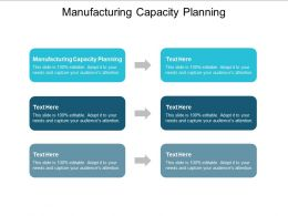 Manufacturing Capacity Planning Ppt Powerpoint Presentation Show Template Cpb