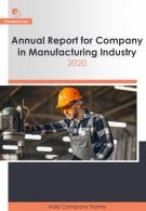 Manufacturing Company Annual Report PDF DOC PPT Document Report Template