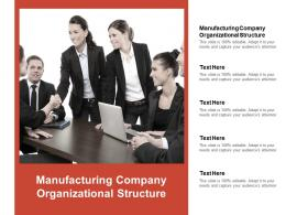 Manufacturing Company Organizational Structure Ppt Powerpoint Presentation Gallery Cpb