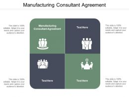 Manufacturing Consultant Agreement Ppt Powerpoint Presentation Ideas Pictures Cpb