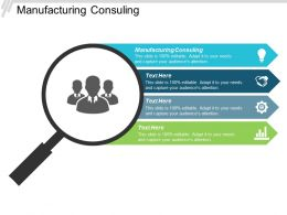 Manufacturing Consulting Ppt Powerpoint Presentation Pictures Layout Cpb