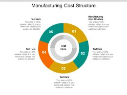 Manufacturing Cost Structure Ppt Powerpoint Presentation Image Cpb