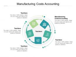 Manufacturing Costs Accounting Ppt Powerpoint Presentation Show Infographics Cpb