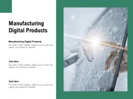 Manufacturing Digital Products Ppt Powerpoint Presentation Model Format Ideas Cpb