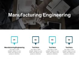 Manufacturing Engineering Ppt Powerpoint Presentation Gallery Deck Cpb