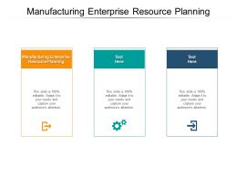Manufacturing Enterprise Resource Planning Ppt Powerpoint Presentation Infographic Template Visual Aids Cpb