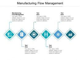 Manufacturing Flow Management Ppt Powerpoint Presentation Slides Ideas Cpb