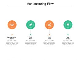 Manufacturing Flow Ppt Powerpoint Presentation Ideas Visuals Cpb