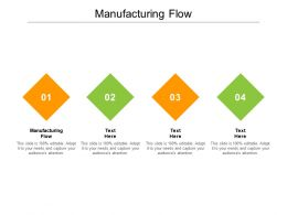 Manufacturing Flow Ppt Powerpoint Presentation Show Background Cpb
