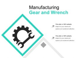 Manufacturing Gear And Wrench
