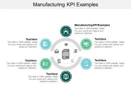 Manufacturing KPI Examples Ppt Powerpoint Presentation Guide Cpb