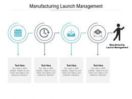 Manufacturing Launch Management Ppt Powerpoint Presentation Slides Graphics Design Cpb