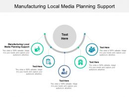 Manufacturing Local Media Planning Support Ppt Powerpoint Presentation Ideas Shapes Cpb