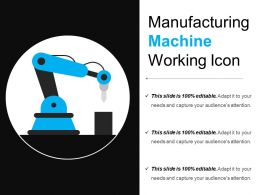 Manufacturing Machine Working Icon