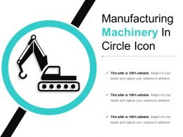 Manufacturing Machinery In Circle Icon