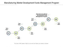 Manufacturing Market Development Funds Management Program Ppt Powerpoint Presentation Styles Cpb