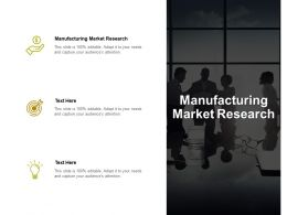 Manufacturing Market Research Ppt Powerpoint Presentation Ideas Deck Cpb