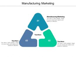 Manufacturing Marketing Ppt Powerpoint Presentation Gallery File Formats Cpb