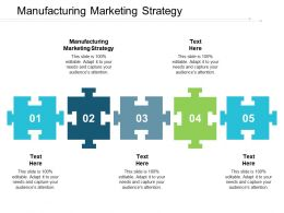 Manufacturing Marketing Strategy Ppt Powerpoint Presentation Portfolio Information Cpb