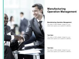 Manufacturing Operation Management Ppt Powerpoint Presentation Summary Professional Cpb