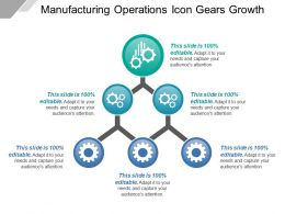 Manufacturing Operations Icon Gears Growth