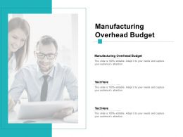Manufacturing Overhead Budget Ppt Powerpoint Presentation Icon Cpb