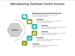Manufacturing Overhead Control Account Ppt Powerpoint Presentation Infographic Template Smartart Cpb