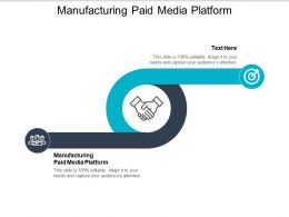 Manufacturing Paid Media Platform Ppt Powerpoint Presentation Slides Graphic Images Cpb