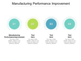Manufacturing Performance Improvement Ppt Powerpoint Presentation Gallery Clipart Images Cpb