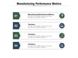 Manufacturing Performance Metrics Ppt Powerpoint Presentation Pictures Clipart Cpb