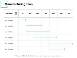 Manufacturing Plan Table Month Ppt Powerpoint Presentation Gallery Templates